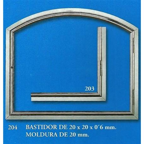 BASTIDOR DE 20x20x0,6mm - MORDURA DE 20mm (203-204)