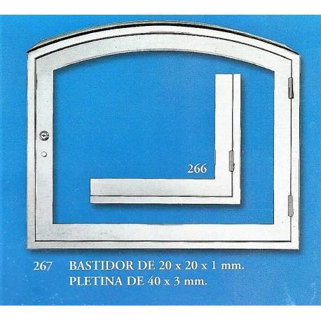 BASTIDOR DE 20x20x1 mm. - PLETINA DE 40x3 mm. (266,267)