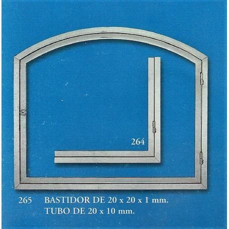 BASTIDOR DE 20x20x1 mm. (264-265) TUBO DE 20x10 mm.