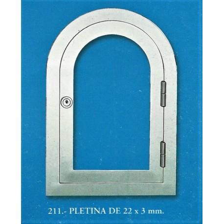 PLETINA DE 22x3mm. (211)